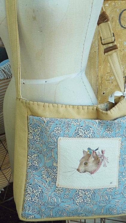Cat Art Messenger Bag