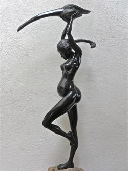 """""""Eve"""" in black resin."""