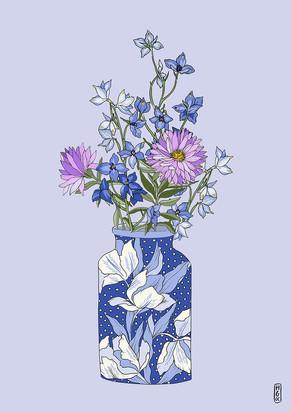 Delphinium Vase