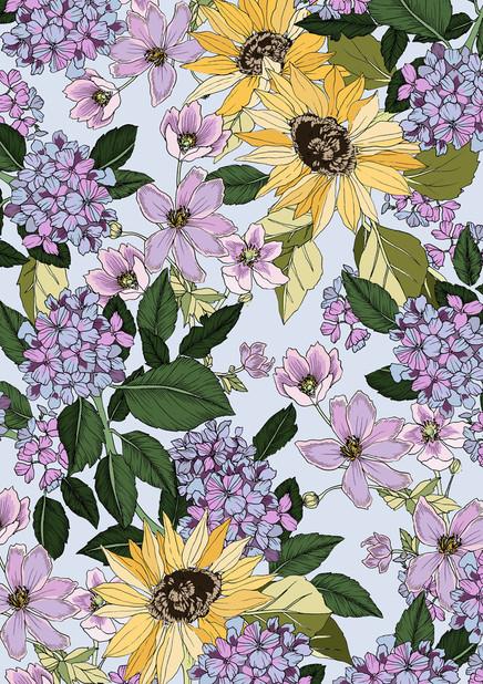 Hydrangeas & Sunflowers