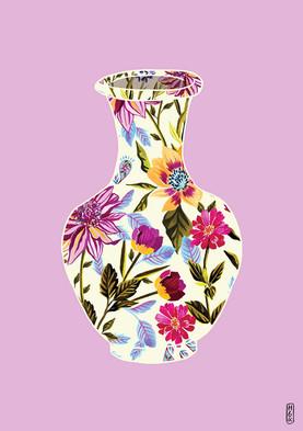 English Garden Vase