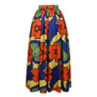 African Orange Dress