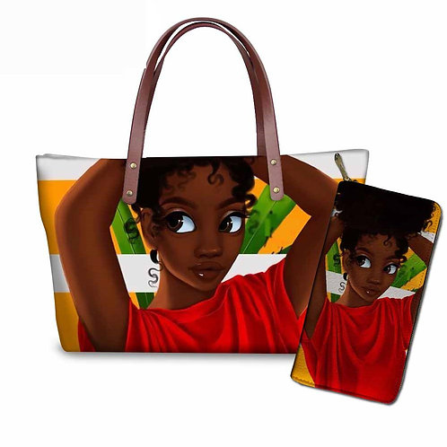 African Tote bag/w Wallet