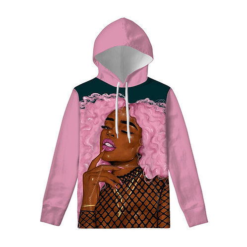 A Pink Hair Sweatshirt Hoodied