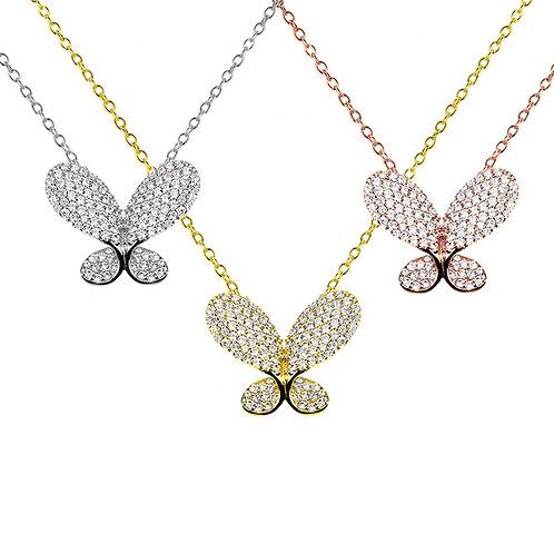 Three Butterflies Necklace