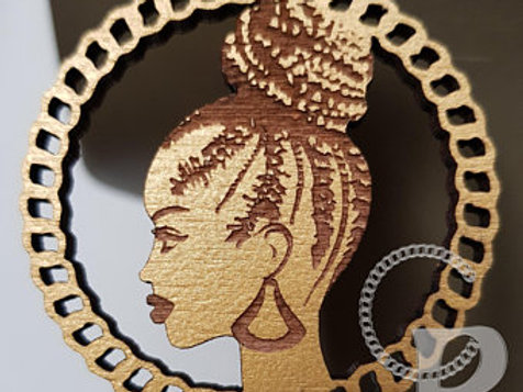 African Woman Earrings
