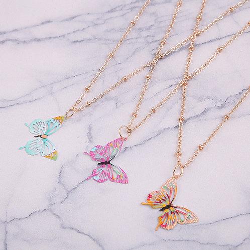 Colorful Butterflies Necklace