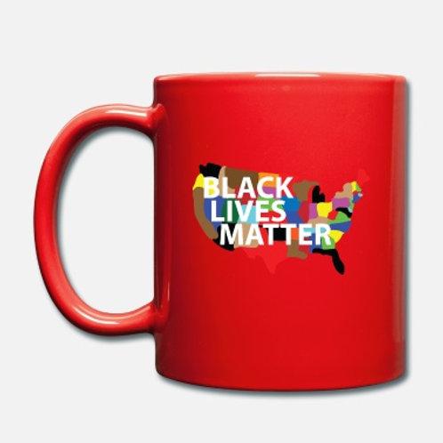 Full-Color Coffee Mug-BLM Map