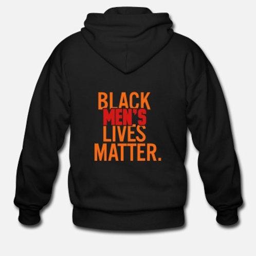 Men's Zip Hoodie(Black Men's Lives Matter)
