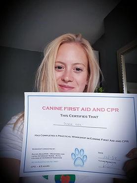 Tammie with Rachel Bean Canine First Aid