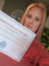 Tammie with Canine First Aid Certificate