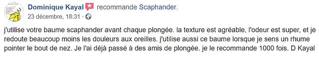 Domique Kayal avis recommandation baume