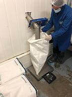 remplissage sac poudre