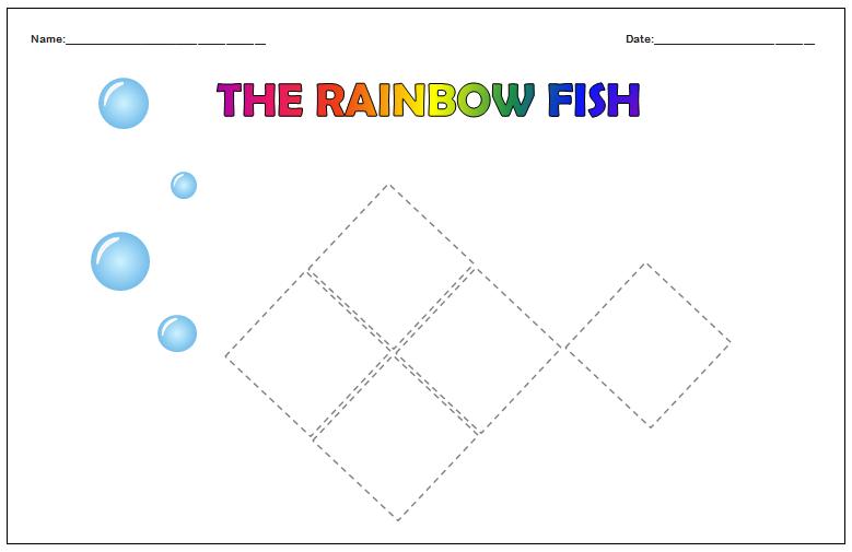 Rainbow Fish Squares!