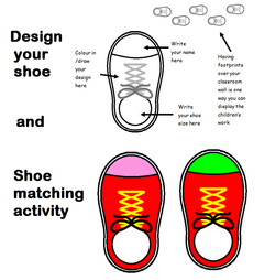 Shoe Design and Matching Activity