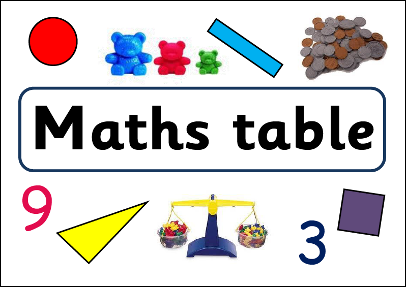 Maths & Writing table banner