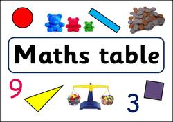 Maths & Writing table banner