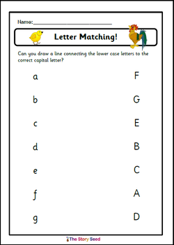 Capital & Lower Letters - matching