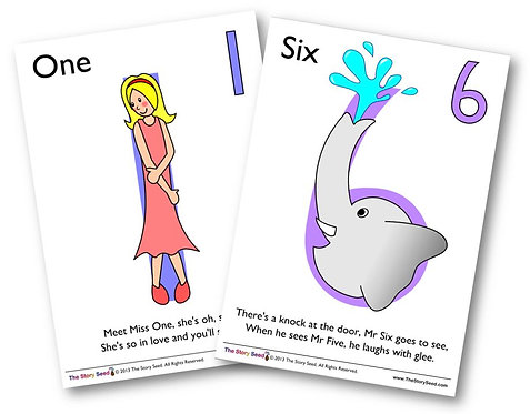 Numbers 1 to 10 - Rhymes, characters and booklets!