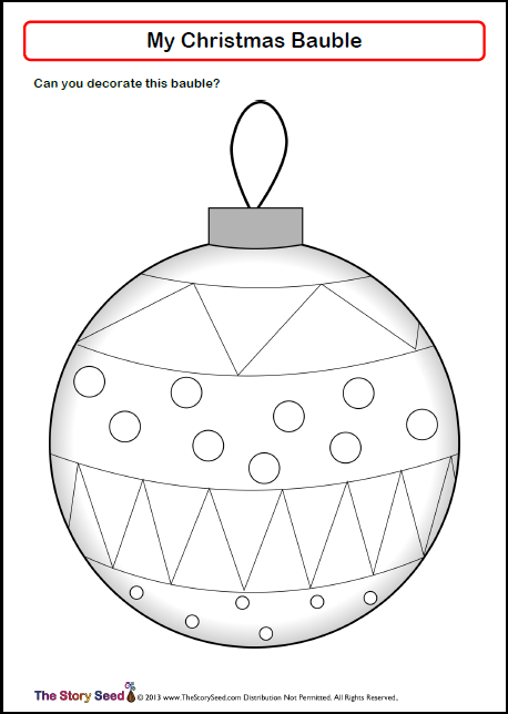 Design your bauble activity