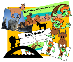 The Three Billy Goats Gruff set
