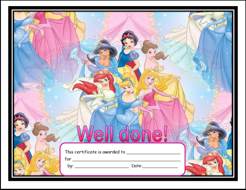 Princess Certificates