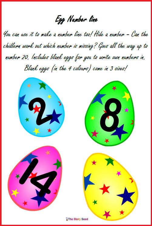 Egg Number Line (Easter idea)