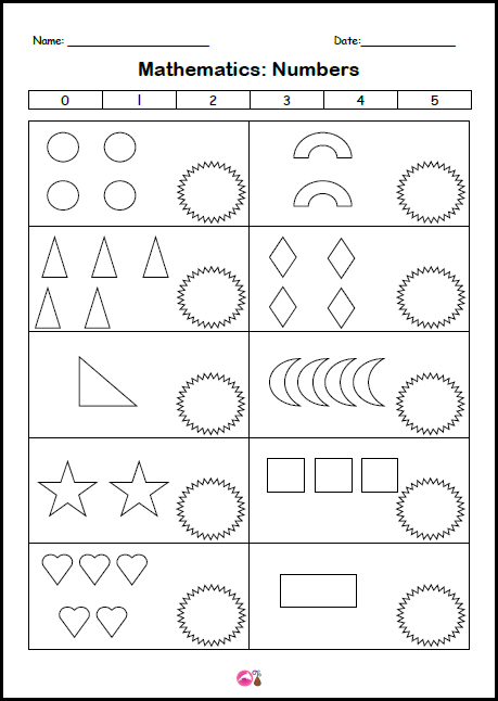 Count & Write Numeral - shapes