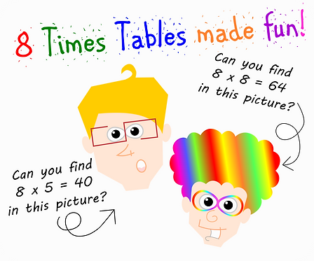 8 Times Tables FUN! with the Awesome 8s (character cards)