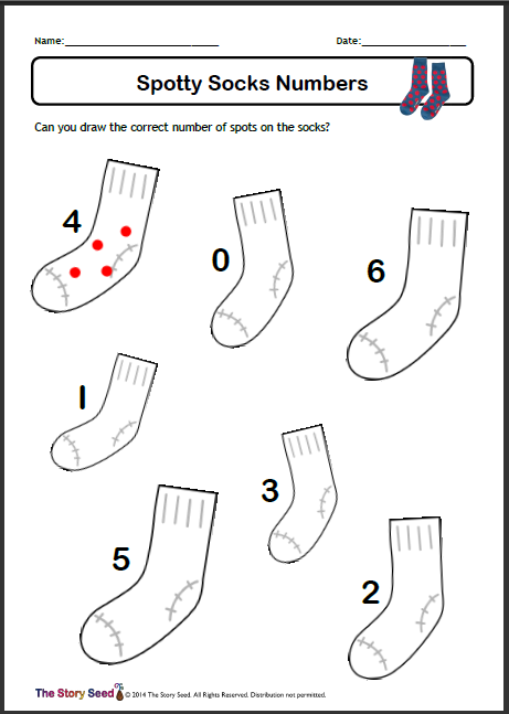 Spotty Socks Numbers