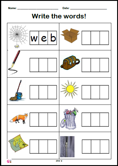 Phoneme Frame Writing Set