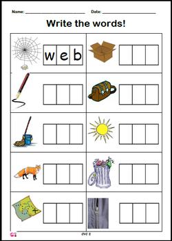 Phoneme Frame Writing Set