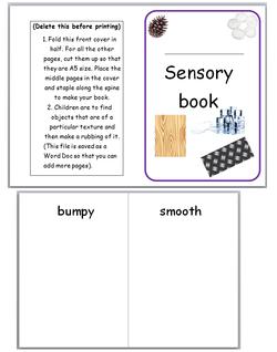 Sensory Book