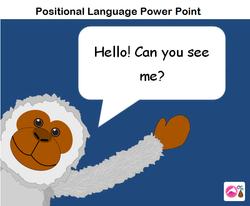 Positional Language Cheeky Monkey