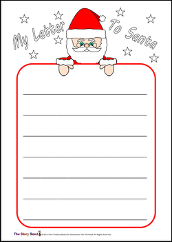 Write a letter to Santa template