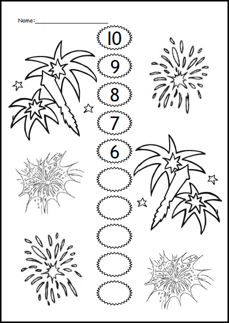 Maths Count Down- Fireworks