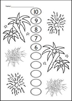 Maths Count Down- Fireworks