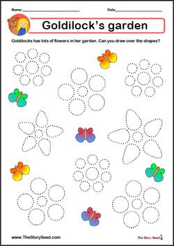 Goldilocks' garden Tracing