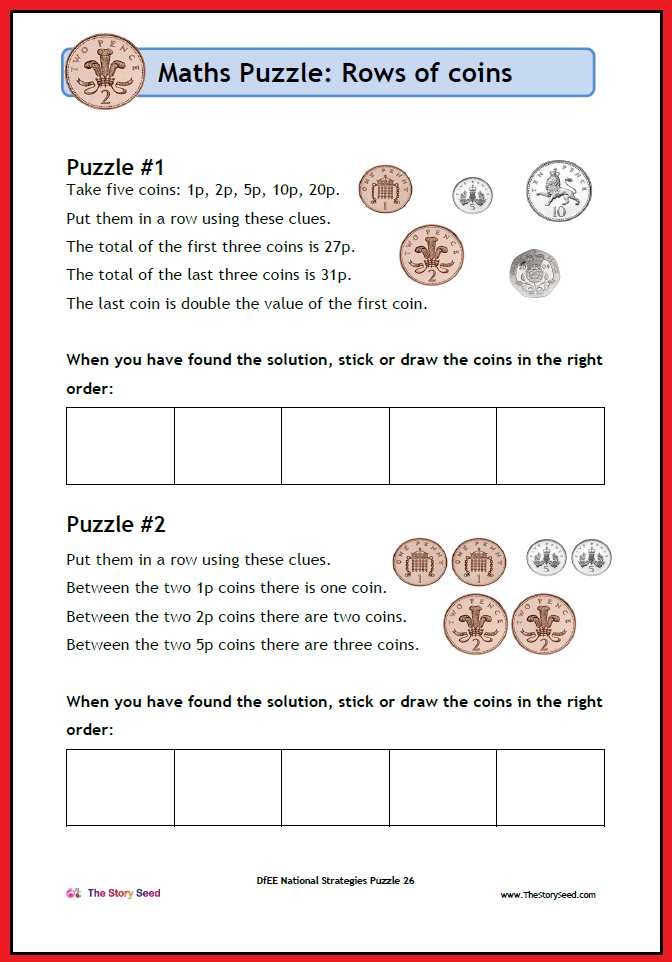 KS2 - Rows of Coins PDF (2 of 2)
