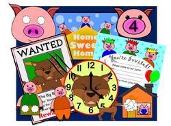 The Three Little Pigs set