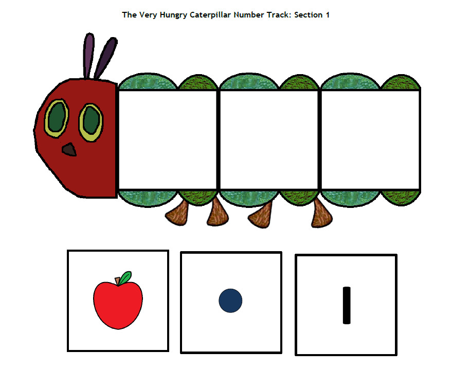 The Hungry Caterpillar Number Track