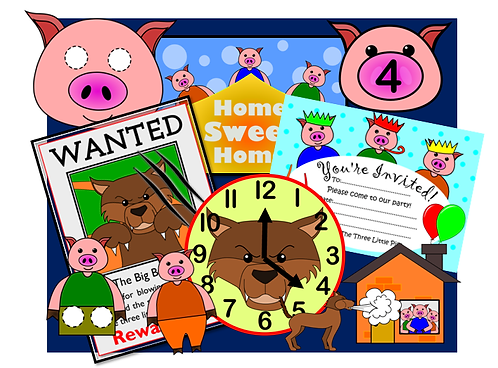 The Three Little Pigs - Complete Resource Pack!