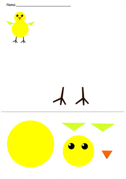 Make a Chick Shapes Picture!