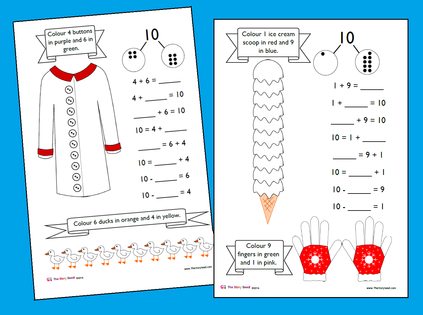 Number Bonds to 10 Booklet