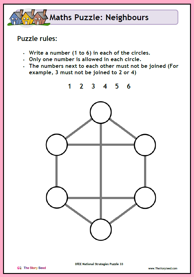 KS2 - Neighbours puzzle PDF (2 of 2)