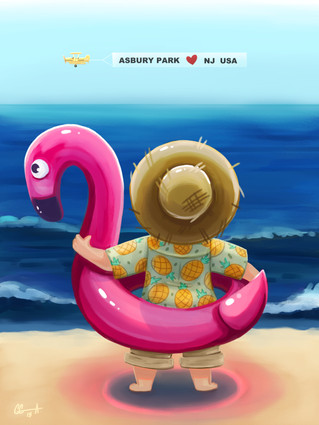 Beach Baby: Flamingo