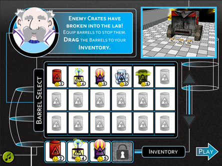 Splash Screen with Barrel UI