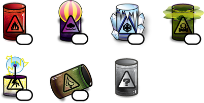 UI Designs - Barrel Icons