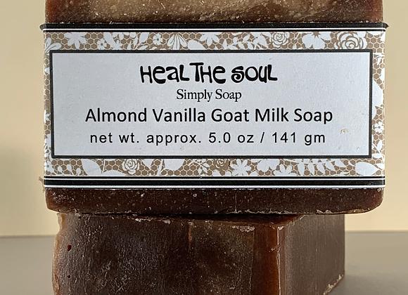 """HEAL THE SOUL""   Almond Vanilla Goat Milk Soap"