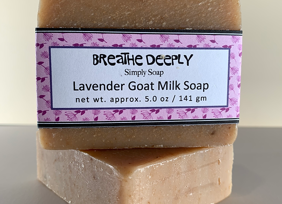 """BREATHE DEEPLY""   Lavender Goat Milk Soap"